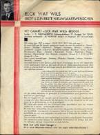 kleine affiche �t Cabaret Elck wat wils - Brugge - Nieuwjaarsbrief 1937