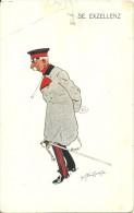 ILLUSTRATEUR  AUTRICHIEN  S.E. EXZELLENZ  MILITAIRE AVEC SABRE CASQUETTE  B.K.W.I. 749-1 NON ECRITE - Illustratori & Fotografie