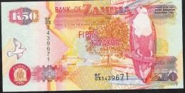 ZAMBIA P37e  50 KWACHA  2006  #BF/03    UNC. - Zambia
