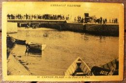 CARNON PLAGE Le Pont Et Le Port. Carte En Phototypie - Mauguio