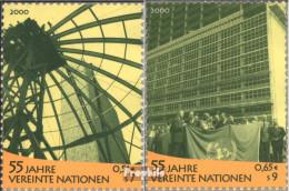 UNO - Wien 309-310 (kompl.Ausg.) Postfrisch 2000 Umweltkonferenz - Wien - Internationales Zentrum