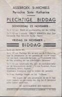 kleine affiche Parochie Ste Catharina Assebroek St Michiels - Brugge - Biddag