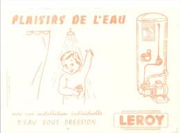 Buvard LEROY Chauffe-eau LEROY PLAISIRS DE L'EAU - Electricité & Gaz