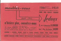 Buvard Ledoux Meublez-vous Chez Ledoux 2, Rue Clémenceau à La Roche Et Place Des Acacias à Luçon Rouge - Buvards, Protège-cahiers Illustrés