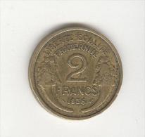 2 Francs Morlon Cupro-Aluminium 1935