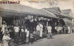 NATIVE SHOPS CEYLON INDIA INDE CEYLAN ISLAND COMMERCE MAGASIN ATTELAGE - Sri Lanka (Ceylon)