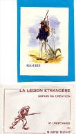 LEGION ETRANGERE- SUPERBES-10 CARTES DES 10 UNIFORMES-Illustrateur  Burda 1965 - Régiments