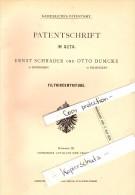 Original Patent - Otto Dumcke In Palmnicken / Jantarny , 1879 , Centrifuge ,  Ernst Schrader In Königsberg , Russland !! - Ostpreussen