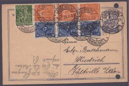 Germany1923: Michel228(3)169(2)on POSTAL CARD - Germany