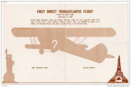 Four Piece, First Direct Transatlantic Flight, Paris To New York, Statue Of Liberty, Eiffel Tower, 1930 - 1919-1938: Fra Le Due Guerre