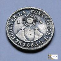Ecuador - 1 Real - Quito -1833 - Ecuador