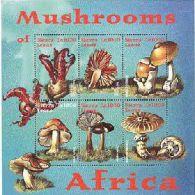SIERRA LEONE    2355  MINT NEVER HINGED MINI SHEET OF MUSHROOMS  # M-352-1  ( - Pilze