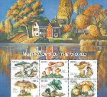 LIBERIA  1993 M **  MINT NEVER HINGED MINI SHEET OF MUSHROOMS   (  0213 - Paddestoelen