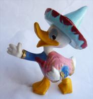 TRES RARE FIGURINE  JIM WALT DISNEY DONALD MEXICAIN CHAPEAU BLEU LES TROIS CABALLEROS - Disney