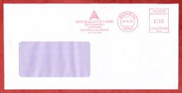 Brief, Francotyp-Postalia B66-7882, Auergesellschaft Zum Schutz Von Mensch + Umwelt, 100 Pfg, Berlin 1993 (75772) - [7] République Fédérale
