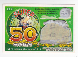 Moldova  Moldavie  Moldawien  Moldau  ; 2002 ,  Lottery Ticket - Lottery Tickets