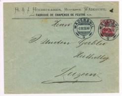 L4/1. Entier Privé   H.J Hochstrasser Wädenswil. Fabrique De Chapeaux De Feutre.  Wädenswil 2.9.13 - Enteros Postales