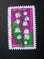 OBLITERE FRANCE ANNEE 2012 N° 664 SERIE DITES LE AVEC DES FLEURS LE MUGUET AUTOCOLLANT ADHESIF - France