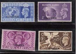 MOROCCO AGENCIES TANGIER 1948 KGVI SG 257/60 OLYMPIC GAMES JUEGOS OLIMPICOS CTE SET MH - Gran Bretagna (vecchie Colonie E Protettorati)