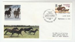 1993  USA Enid CENTENNIAL  HORSES EVENT COVER  Horse Land Run Stamps - Horses