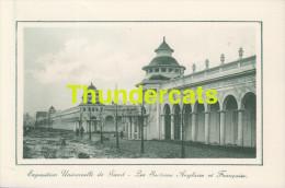 CPA EXPOSITION UNIVERSELLE DE GAND GENT TENTOONSTELLING 1913 ** LA SECTION ANGLAISE ET FRANCAISE - Expositions