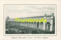 CPA EXPOSITION UNIVERSELLE DE GAND GENT TENTOONSTELLING 1913 ** LA SECTION ANGLAISE - Expositions