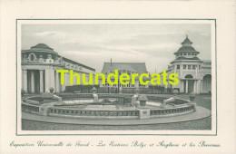 CPA EXPOSITION UNIVERSELLE DE GAND GENT TENTOONSTELLING 1913 ** LES SECTIONS BELGE ET ANGLAISE ET LES BUREAUX - Expositions