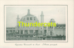 CPA EXPOSITION UNIVERSELLE DE GAND GENT TENTOONSTELLING 1913 **  L'ENTREE PRINCIPALE - Expositions