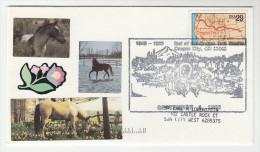 1993  Oregon City USA OREGON TRAIL Finish  HORSES EVENT COVER  Horse  Map Stamps - Horses