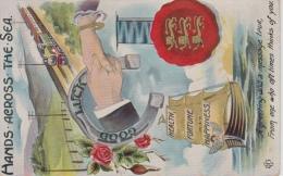 Hands Across The Sea    Stoomtrein   Good Luck   Health Fortune Happiness         Nr 1372 - Souvenir De...