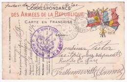Carte En Franchise Militaire Modèle 12CA -l Ente C Et I Et Petit ° à N° Au Recto - 2ème Ligne Entre O Et R, Ou à Gauche - Marcofilie (Brieven)
