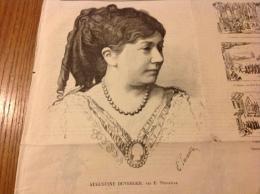 1869 - LA CHRONIQUE ILLUSTRÉE - Augustine DUVERGER - Anais FARGUEIL - TOUR MALAKOFF - STATION DE COURCELLES - Giornali