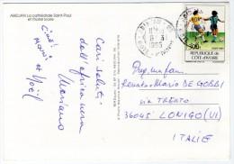 COTE D´IVOIRE-ABIDJAN - LA CATHEDRALE SAINT-PAUL ET L'HOTEL IVOIRE / THEMATIC STAMP FIFA WORLD CUP - FOOTBALL - Costa D'Avorio