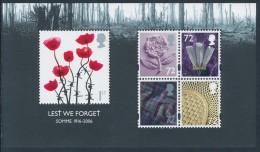 GREAT BRITAIN 2006, LEST WE FORGET, Somme 1916 Minisheet** - Blocchi & Foglietti