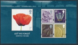 GREAT BRITAIN 2008, LEST WE FORGET, Armistice 1918 Minisheet** - Blocchi & Foglietti