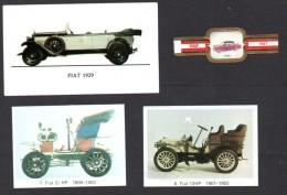 FIAT - 9 Images (Panini, Cigare, Chewing Gum Milou) - 9 Pictures - 9 Beelden  - Auto - Car - Coche - Auto's