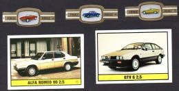 ALFA ROMEO - 5 images (Panini, cigare) - 5 pictures - 5 beelden  - auto - car - coche