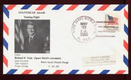 USA, Space, 1980, SPACE, GULFSTREAM  TRAINING FLIGHT,  RICHARD H. TRULY - United States