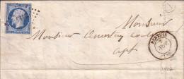 VAUCLUSE - PERTUIS - BOITE RURALE A DE LAMOTTE - LE 2-11-1857 - N°14 OBLITERATION PC - VERSO SIGNATURE J.CHEVALLIER - Marcophilie (Lettres)