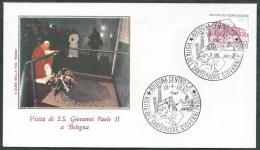 1982 VATICANO VIAGGI DEL PAPA BOLOGNA - RM2-2 - FDC