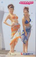Télécarte Japon / 110-016  - FEMME SEXY & PHARE - BIKINI GIRL & LIGHTHOUSE - Japan Phonecard - Erotique Erotic -1436 - Phares