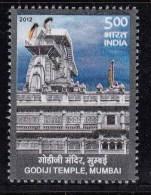 India MNH 2012,  Godiji Jain Temple,  Jainism - Indien