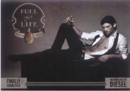 "1 X Singapore Perfume Postcard Cards Cartes Parfumees --  DIESEL FUEL FOR LIFE MEN  (6.75"" X 4.75"" ) - Perfume Cards"