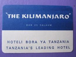 HOTEL  MOTEL LODGE KILIMANJARO DAR EL SALAAM MINI TANZANIA AFRICA STICKER DECAL LUGGAGE LABEL ETIQUETTE KOFFERAUFKLEBER - Hotel Labels