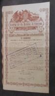 Austria Austrian Autriche 1911 Emprunt Basse Autriche 500 Francs Développement Du Chemin De Fer / Bond Loan / TBE - Railway & Tramway
