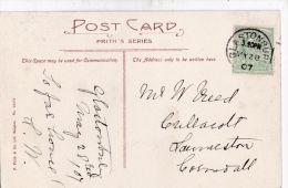 POSTAL HISTORY -GLASTONBURY 1907 SINGLE CIRCLE CANCELLATION - Poststempel