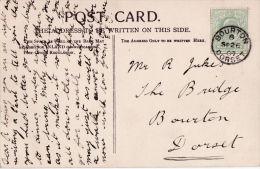 POSTAL HISTORY. BOURTON , DORSET 1907 SINGLE CIRCLE CANCELLATION - Poststempel