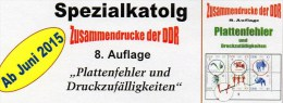 Katalog Zusammendrucke Mit Abarten DDR 2015 Neu 25€ RICHTER Teil 4 Varianten PF Se-tenant Special Catalogues Of Germany - Bücher, Zeitschriften, Comics