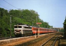 RU CA 31 - Train - Loco CC 40103 Passant En Gare - MENNESSIS - Aisne 02 - SNCF - Autres Communes