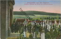 Kriegsbilder aus den Vogesen - Soldaten verlassen die Kirche von Colroy-la-Grande - Feldpost 2. Bayer. Landsturm-Inf.-Ba